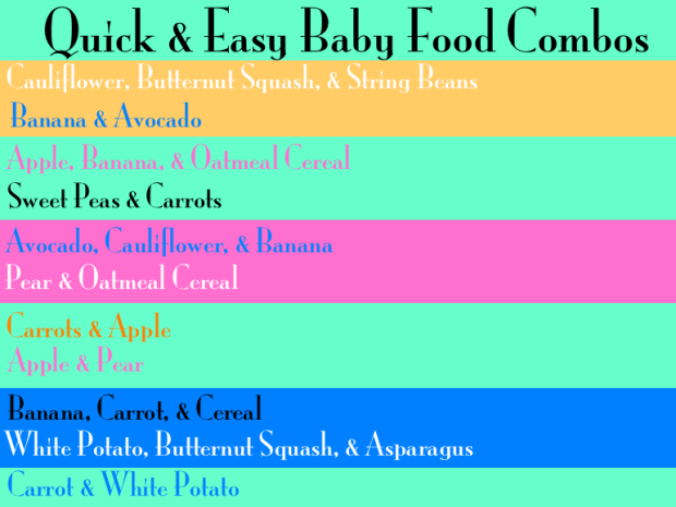 Baby Food Combinations With Peaches