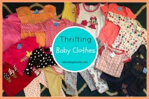 Thrifting Baby Clothes - NiftyMahoganyMom.com