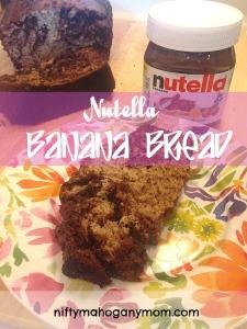 Nutella Banana Bread -- NiftyMahoganyMom.com