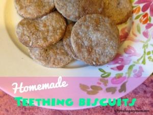 Healthy & Natural Homemade Teething Biscuits - NiftyMahoganyMom.com