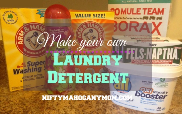 Make Your Own Laundry Detergent -- NiftyMahoganyMom.com
